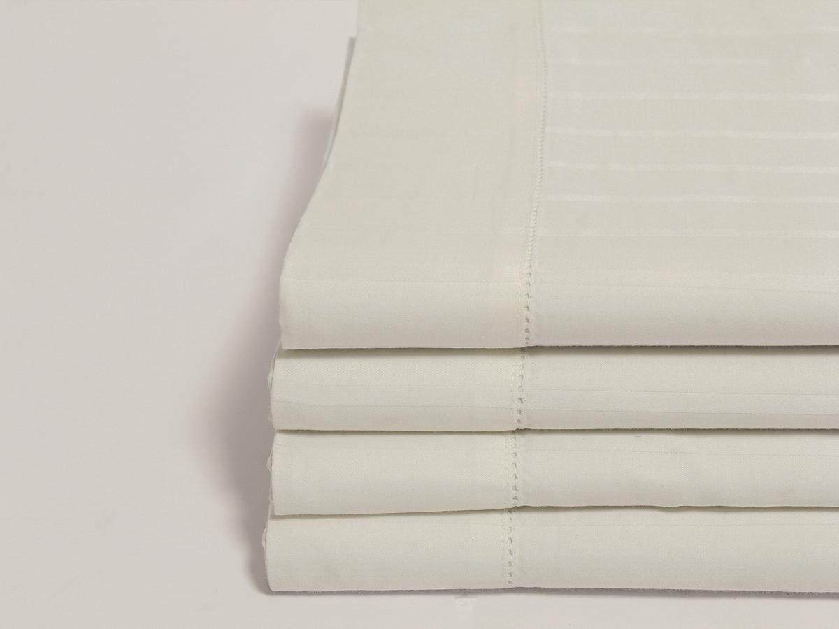 Natural Sateen Flat Sheet With Z Hem Naturesoft Bedding